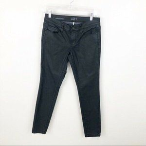 Loft Modern Skinny Coated Jeans Charcoal Gray 26